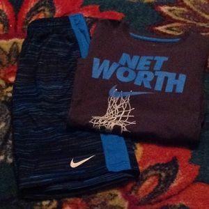 Nike Dri- Fit Basketball Shorts and shirt